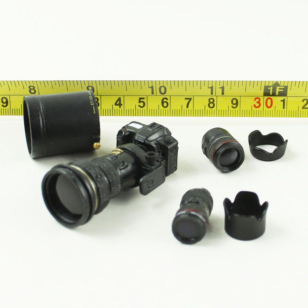 A52-08 1//6th Scale Action Figure - Camera Set (Black x Golden
