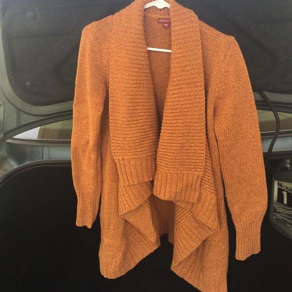Orange/mustard yellow cowl neck sweater Target/Merona brand cowl ...