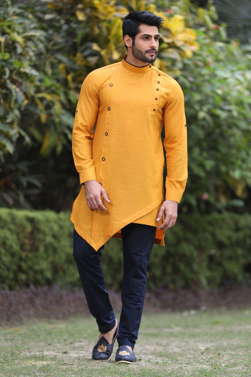 kurta for men kurta payjama ethnic wear Mustard Yellow Kurta Suit In Cotton for mens kurta set indian kurta wedding wear