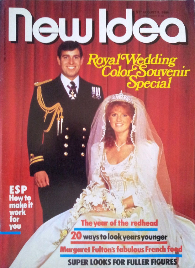 NEW IDEA FERGIE & PRINCE ANDREW ROYAL WEDDING MAGAZINE