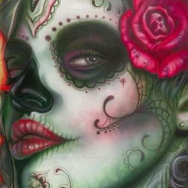 Another Sugar Skull idea... Luuuuv this one!
