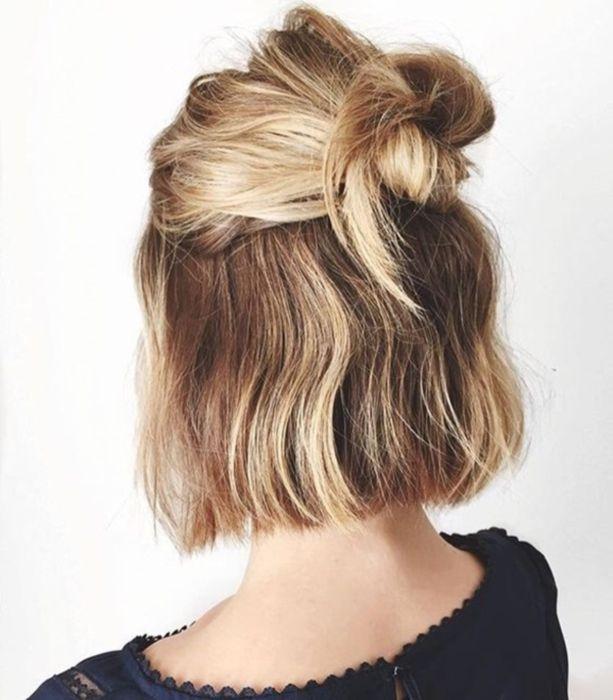 2 Bun Hairstyles for Short Hair