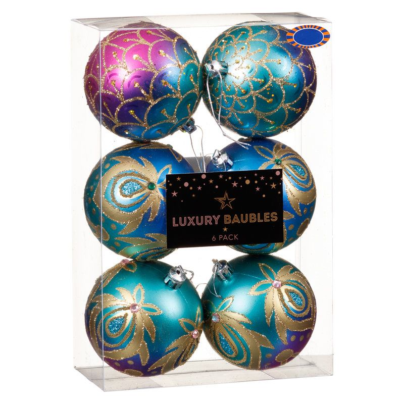 luxury fashion christmas baubles add a touch of colour to your christmas tree with these