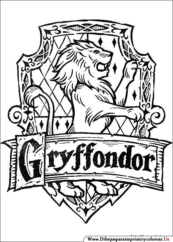 Dibujos De Harry Potter Para Imprimir Y Colorear Casas Estilo