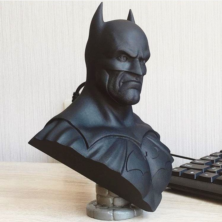"10/"" Tall LARGE 3D Printed Batman Bust The Dark Knight Bust Frank Miller"
