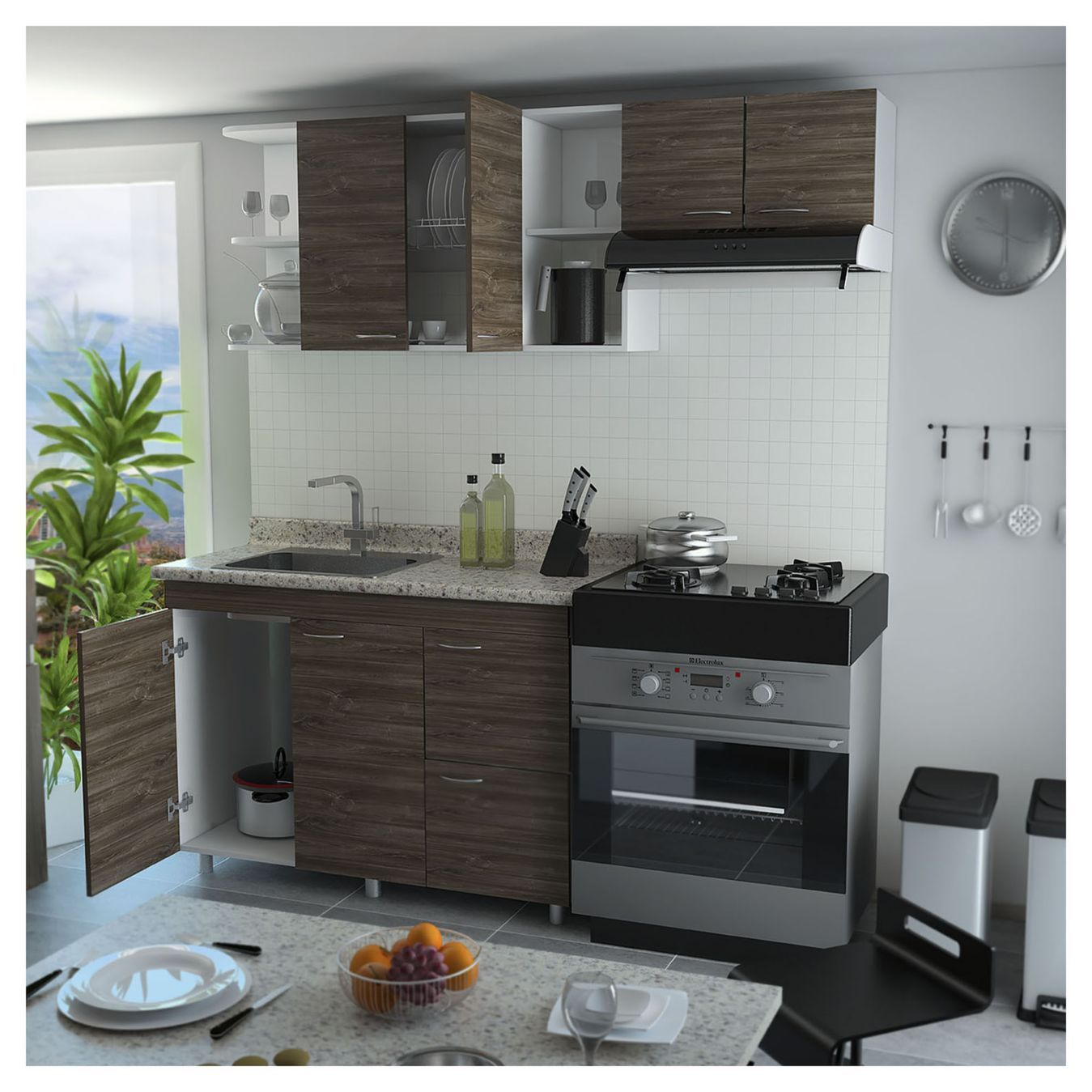 RTA Design Kit muebles de cocina aglomerado 120x88x52 cm | casa