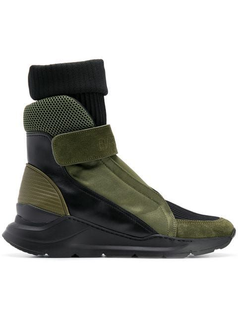 Balmain sock insert hi top sneakers | SNEAKS & BOOTS