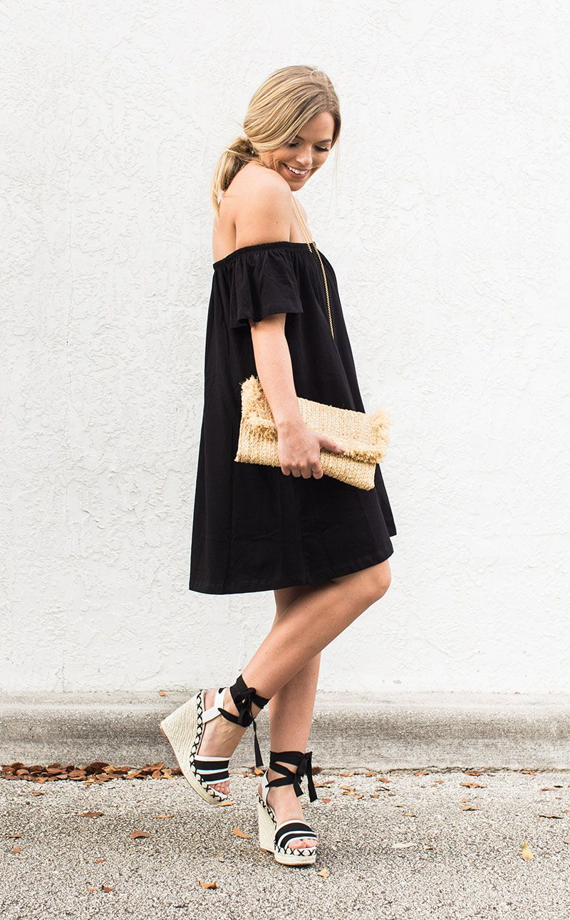 6bd0a9fddc39 black off the shoulder dress