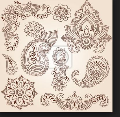 Photo of Patrón de tatuaje de henna Quiero probar con decoraciones de hielo para …