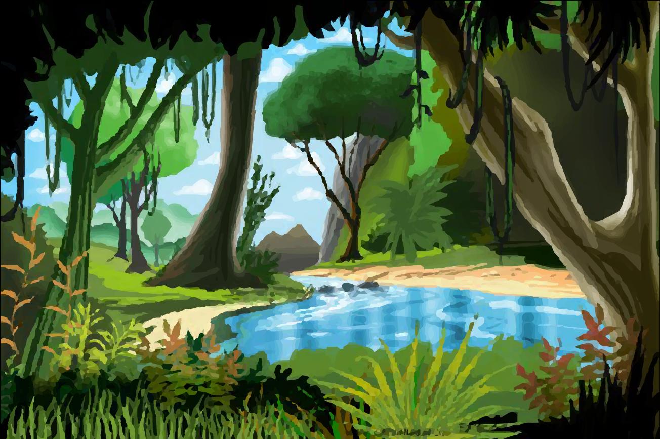 Картинки джунглей нарисованные детьми