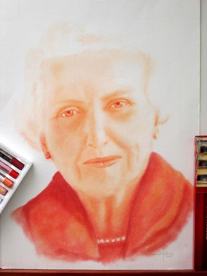 Artist: Karen Matias | Title: Helena Kolody's Portrait | Media: Dry pastels on paper | Dimensions: 297 x 420 mm | Year: 2012