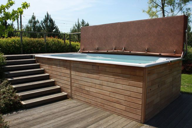 Schwimmspa Kundenbilder - Whirlpool Center Weeze Garten