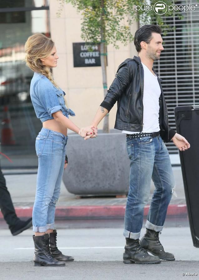 Adam Levine with his beautiful Russian Supermodel [ex ... Adam Levine And Anne Vyalitsyna Misery