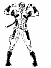 Deadpool Coloring Page Coloring Pages Marvel Coloring Chibi Coloring Pages