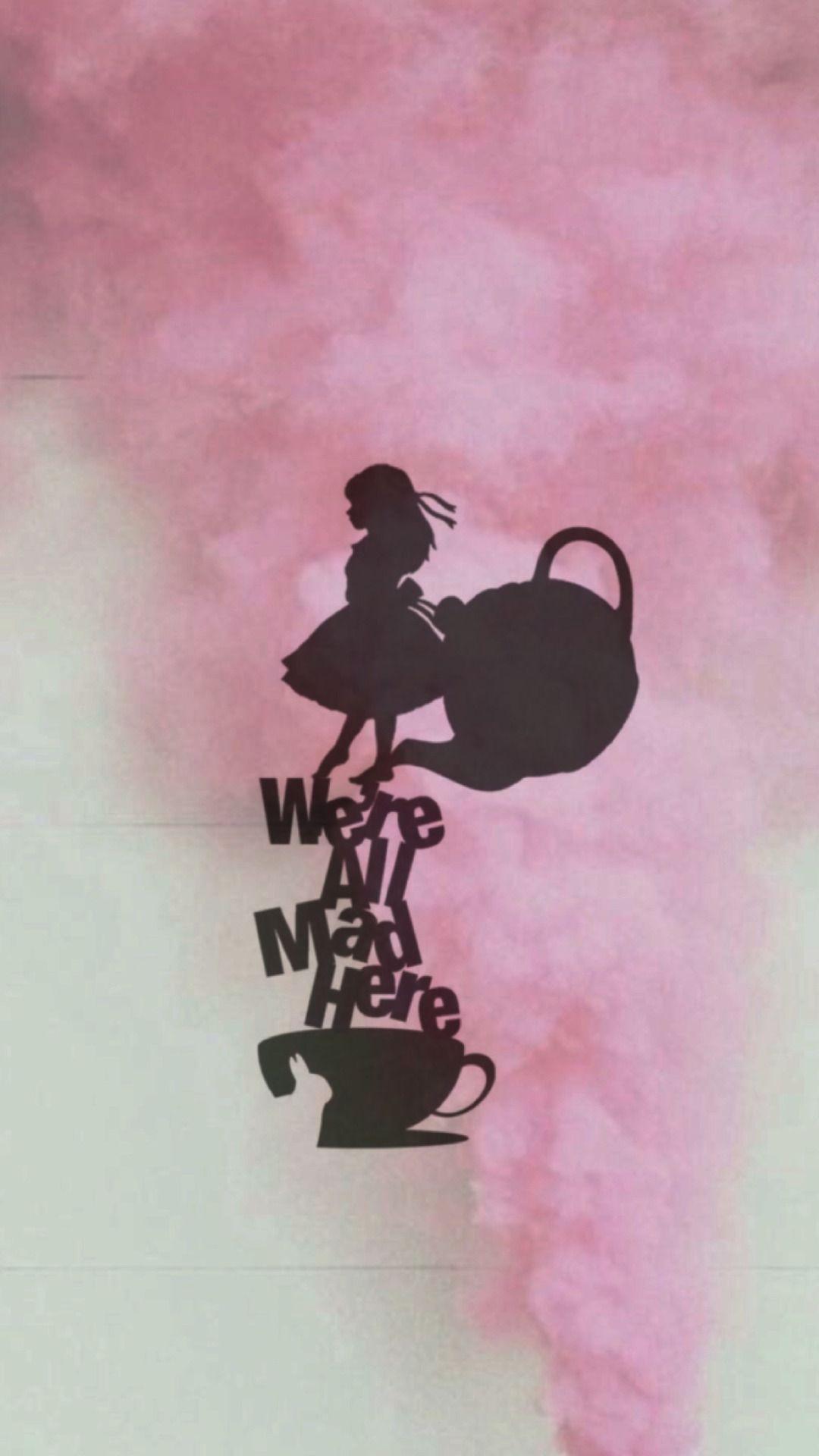Take Tea In Wonderland Wallpaper Iphone Disney Alice In Wonderland Background Disney Phone Wallpaper