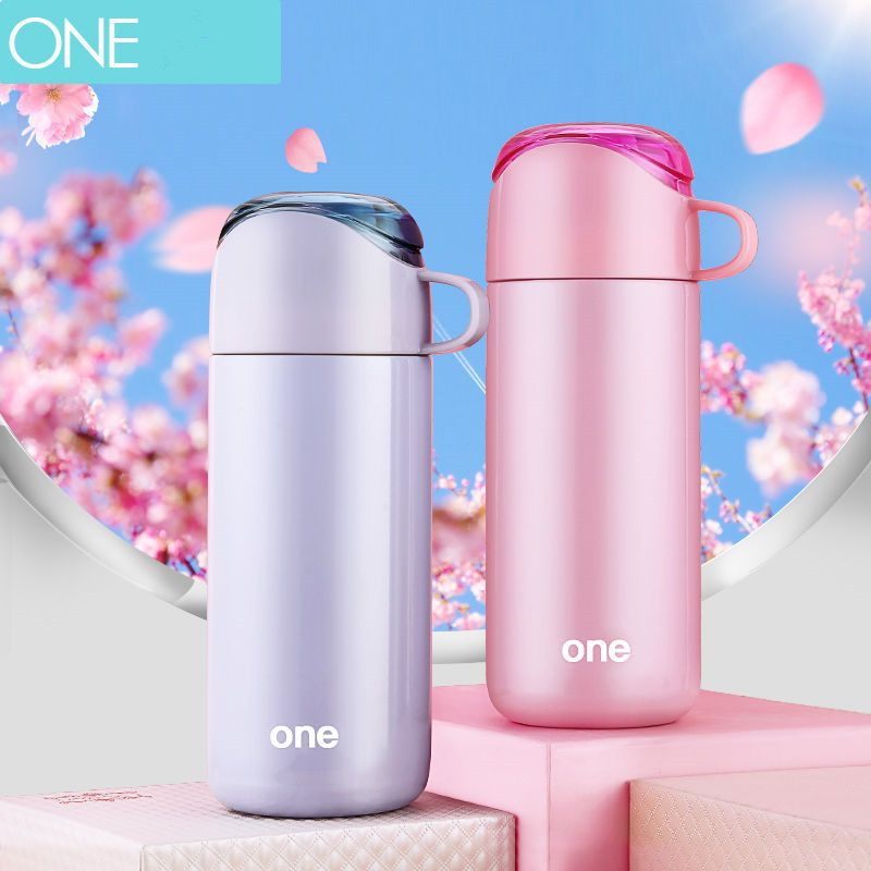 eb192a2c5f8 Portable 350ml Kids Thermos Cup Stainless Steel Travel Mug with ...