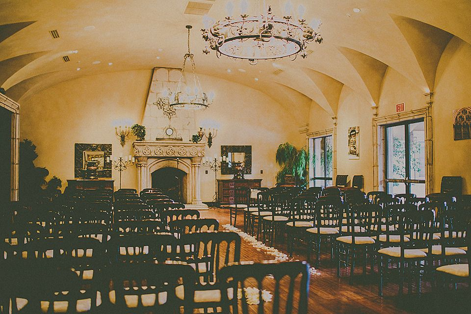 Indoor Ceremony Inspirations: Indoor Wedding Ceremony Featuring The Arches And