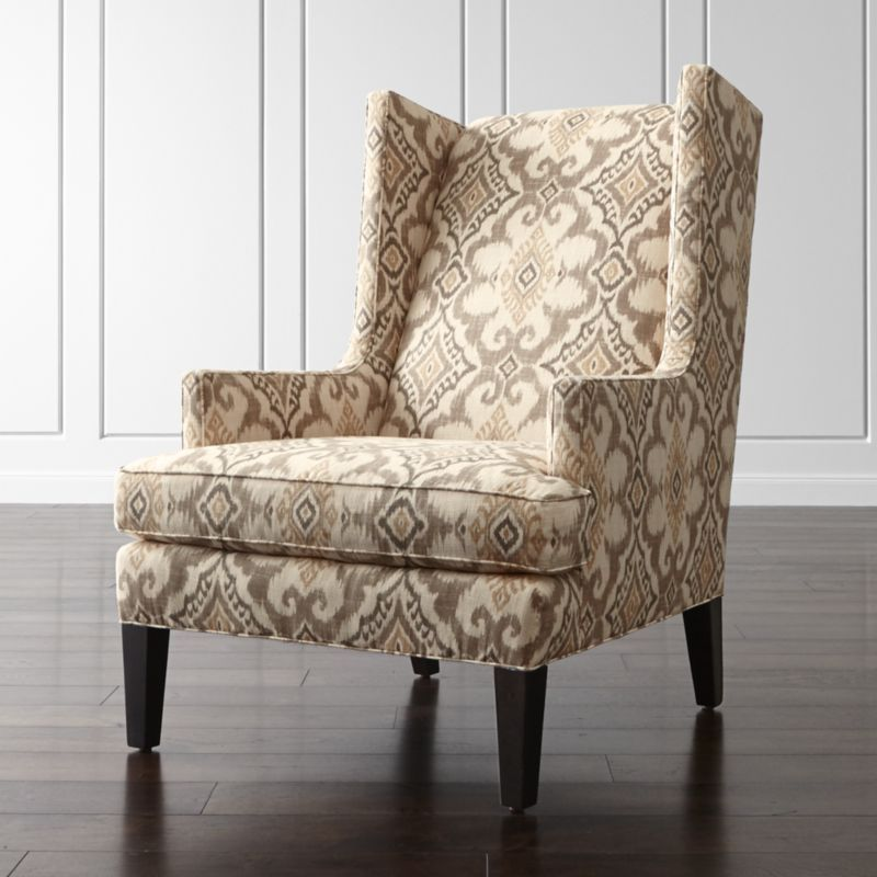 Living Room Chair Shape Luxe Wingback