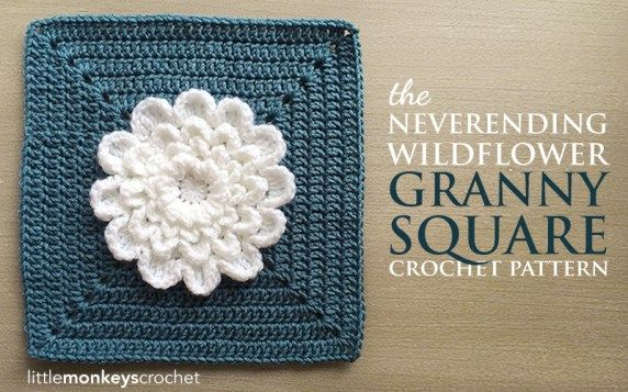 Wildflower Crochet Lots Of Free Patterns Flower Granny Square