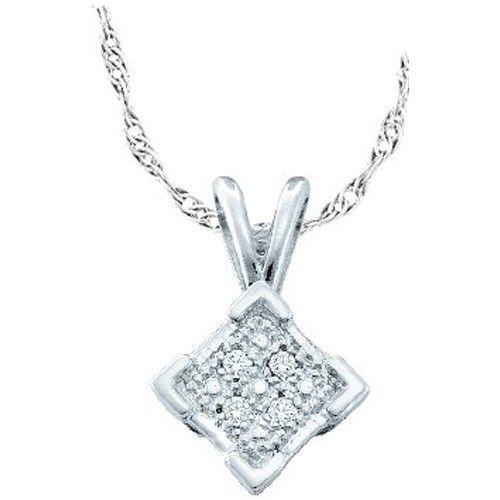 .01 Carat Round Diamond Micro-Pave Pendant