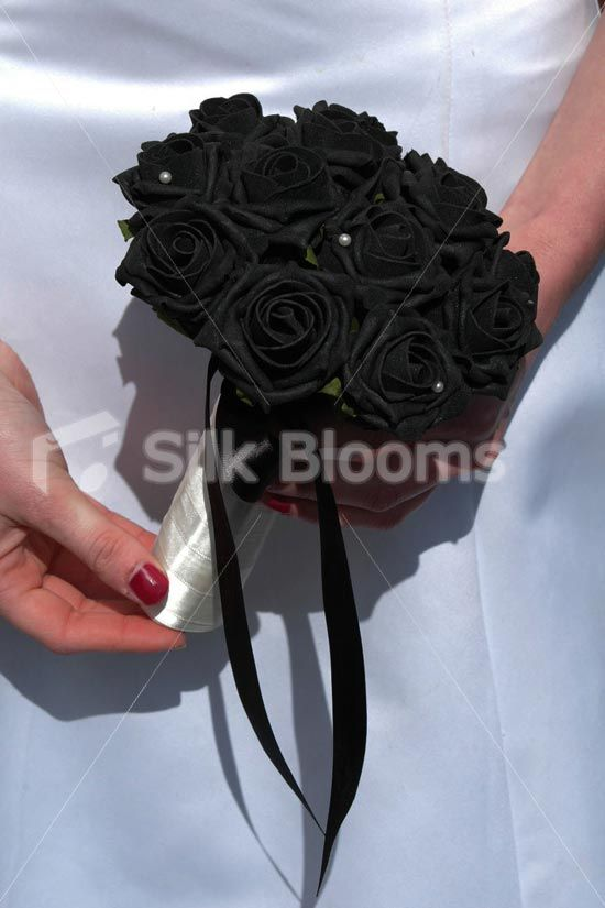 Gallery For Black Rose Wedding Bouquet