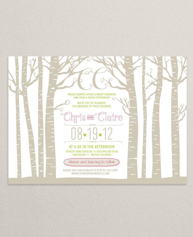 Vancouver Custom Wedding Invitations | Uniquity Invitations — Claire ...