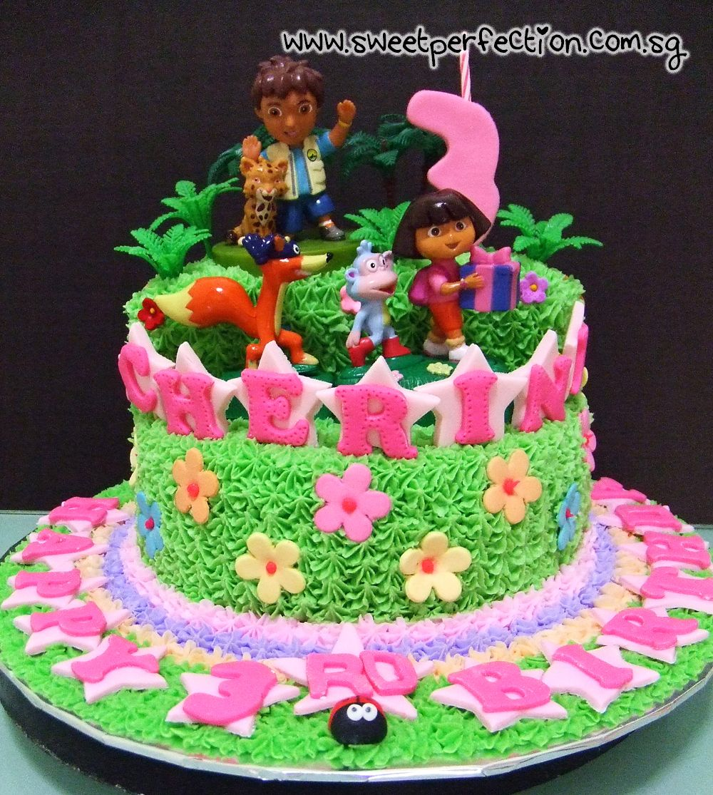 Dora The Explorer Cake Google Search Dora The Explorer - Dora birthday cake toppers