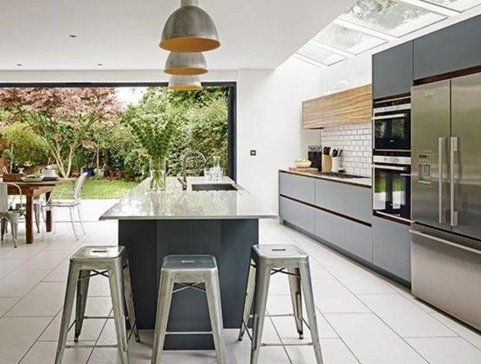 La cuisine avec verrière, les conseils des spécialistes! - couleur cuisine avec carrelage beige