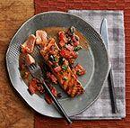 King Salmon with Tomato-Anchovy Vinaigrette