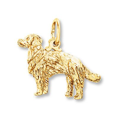 Golden Retriever Charm 14k Yellow Gold Golden Retriever