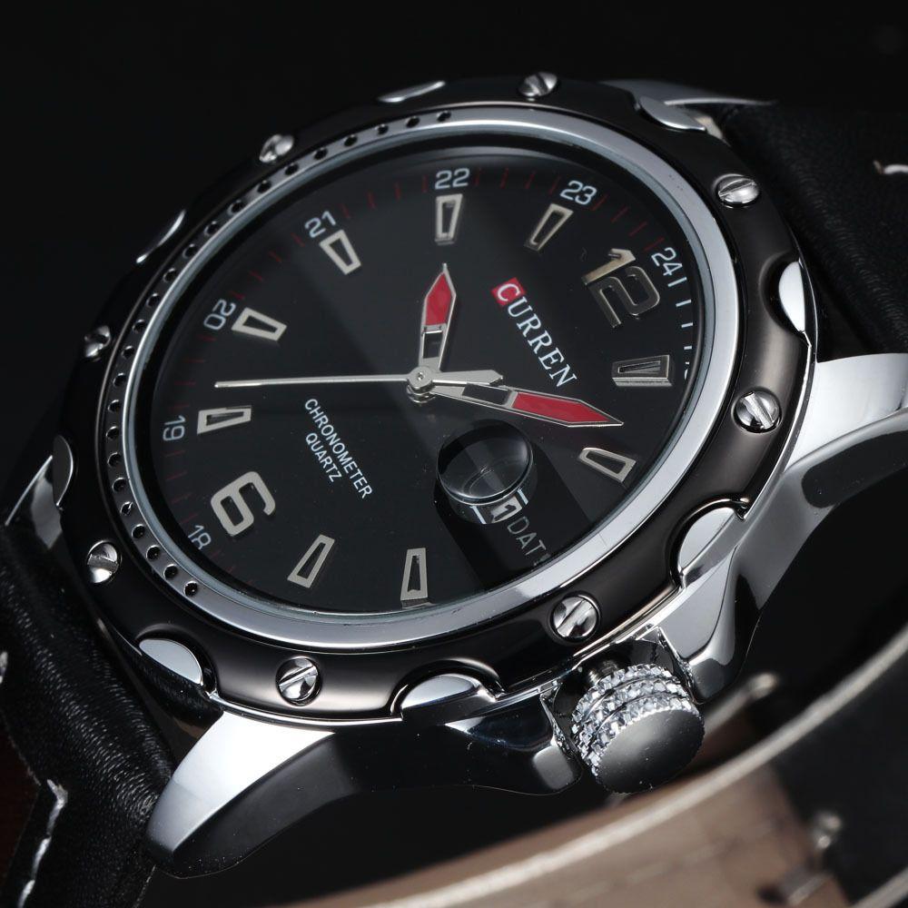 11.98 - Relojes De Cuarzo Para Hombre Del Deporte Ocasional De Moda Negro  Clásico Watch  ebay  Fashion f8138113c732
