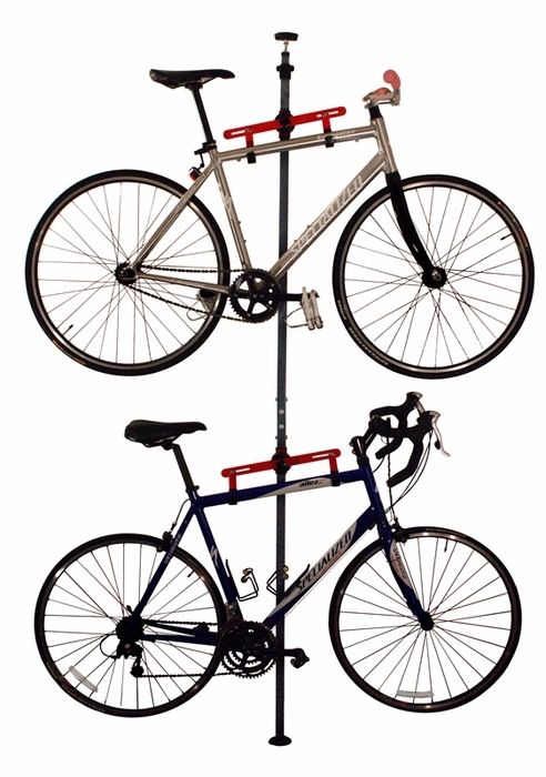 Bike Storage Rack For Apartment Pressure Mount Wall Mount Bike