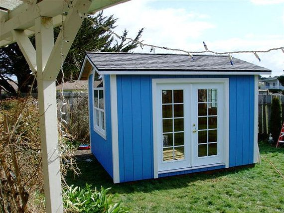 Sweet 10x12 Portable Studio With French By Backyardbuildingsllc With Images Shed To Tiny House French Doors Cute Small Houses
