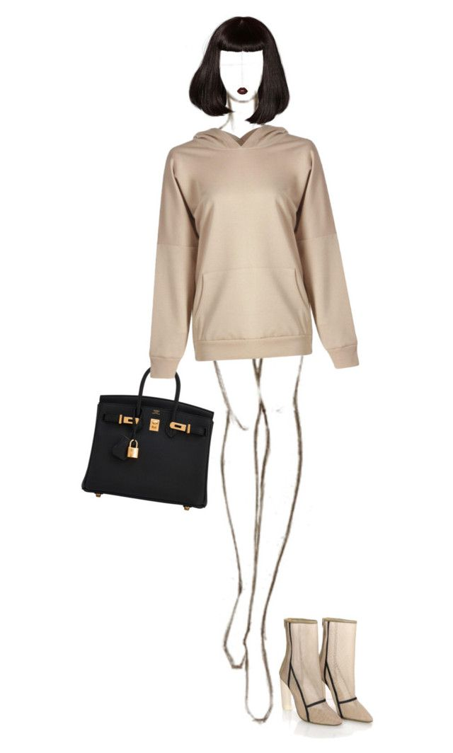 """""""Kim K"""" by ladygagafashion ❤ liked on Polyvore featuring Hermès, adidas and Lime Crime"""