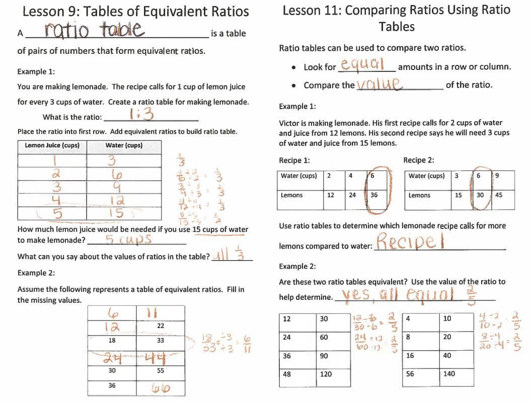 51 Math Worksheets Grade 6 Ratios In