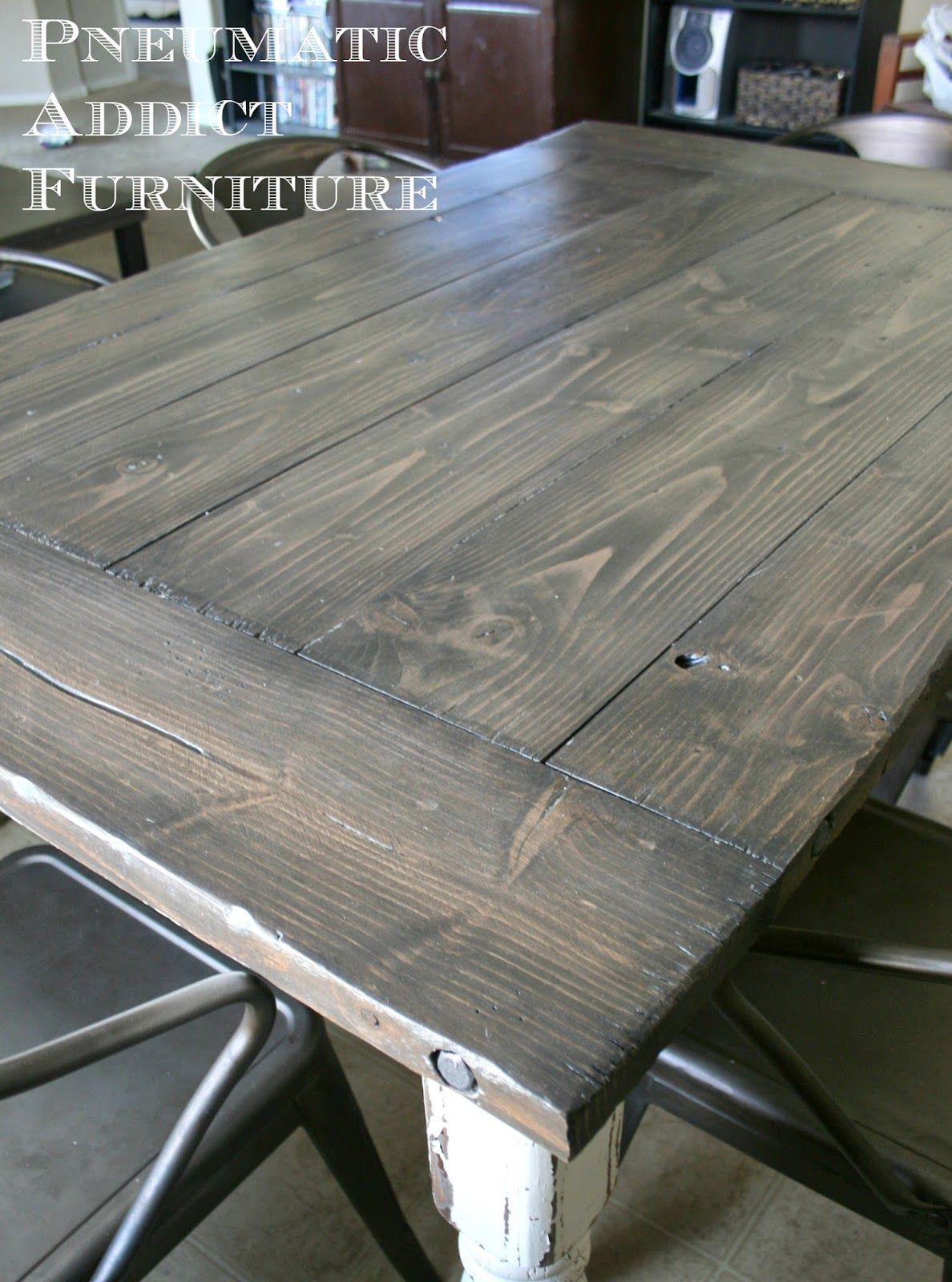 Industrial Farmhouse Table Staining Furniture Industrial