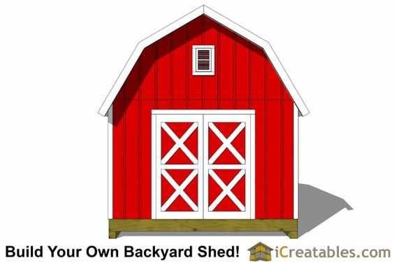 12x12 Gambrel Shed Plans 12x12 Barn Shed Plans Shed Plans Shed