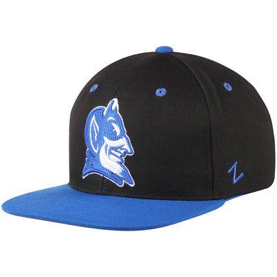 Duke Blue Devils Zephyr Z11 Snapback Adjustable Hat - Black Royal ... 1b81426ad326