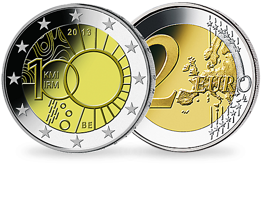 2 Euro Belgien 2013 Meteorologisches Institut Mdm Deutsche Münze