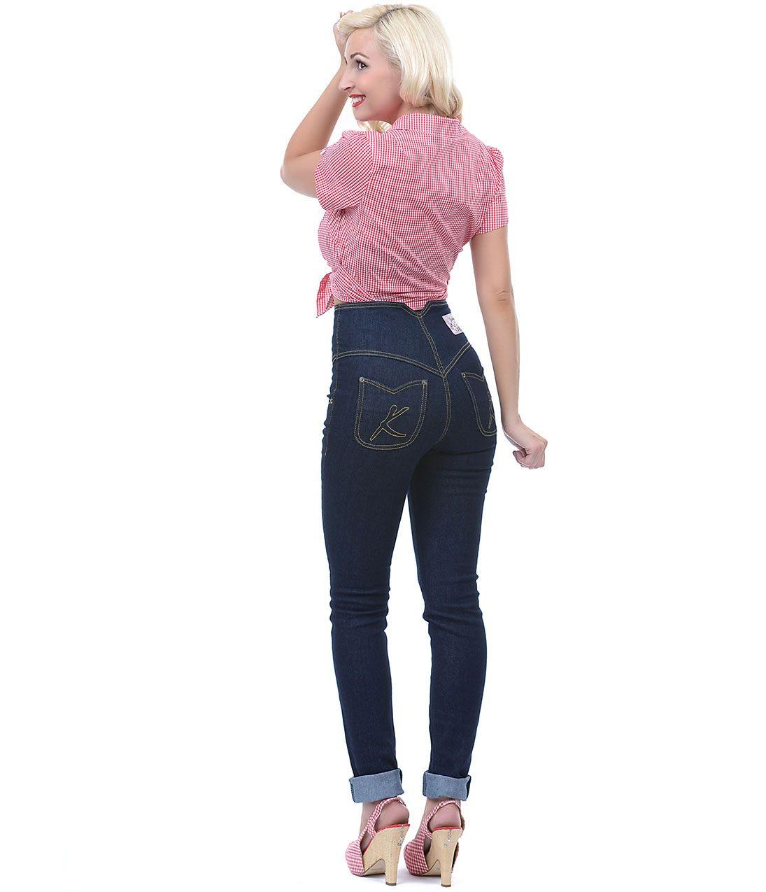 Denim High Waist Stretch Jeans | My Style | Pinterest | Bottoni ...