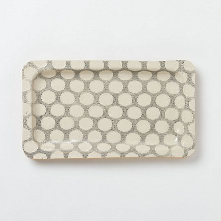 Stretched Dot Stoneware Tray from Terrain