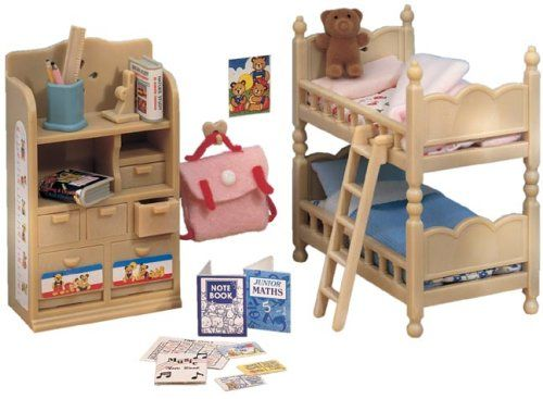 sylvanian families childrens bedroom furniture set none