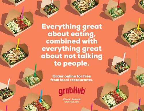 Grubhub Ad Grubhub Food Poster Restaurant Food Delivery