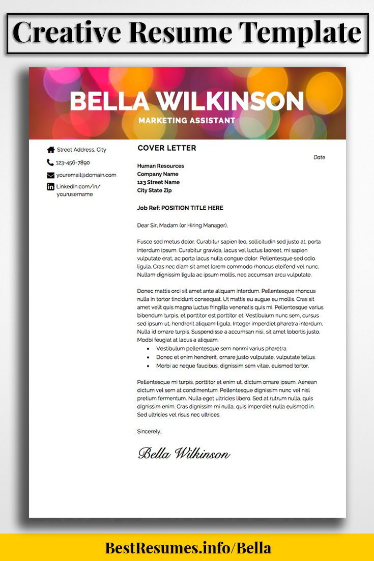 What Is A Good Resume Title Resume Template Bella Wilkinson  Creative Resume Templates Job .