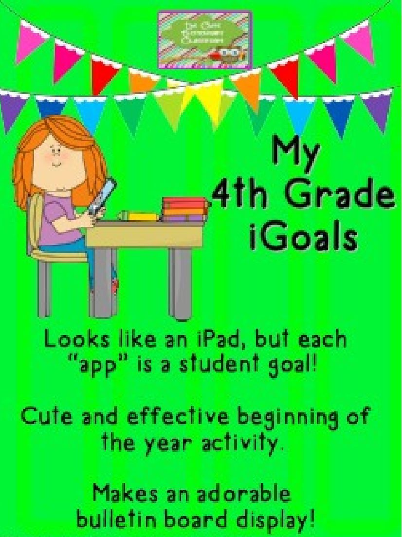 """Cute!!!! Have your student make their own iPads filled with iGoals! Students choose from a variety of """"iGoal apps"""" to add to their iPads. An extremely fun way to get into goal setting at the beginning of the year.... plus... this makes a very cute beginning of the year bulletin board!!!!!!"""