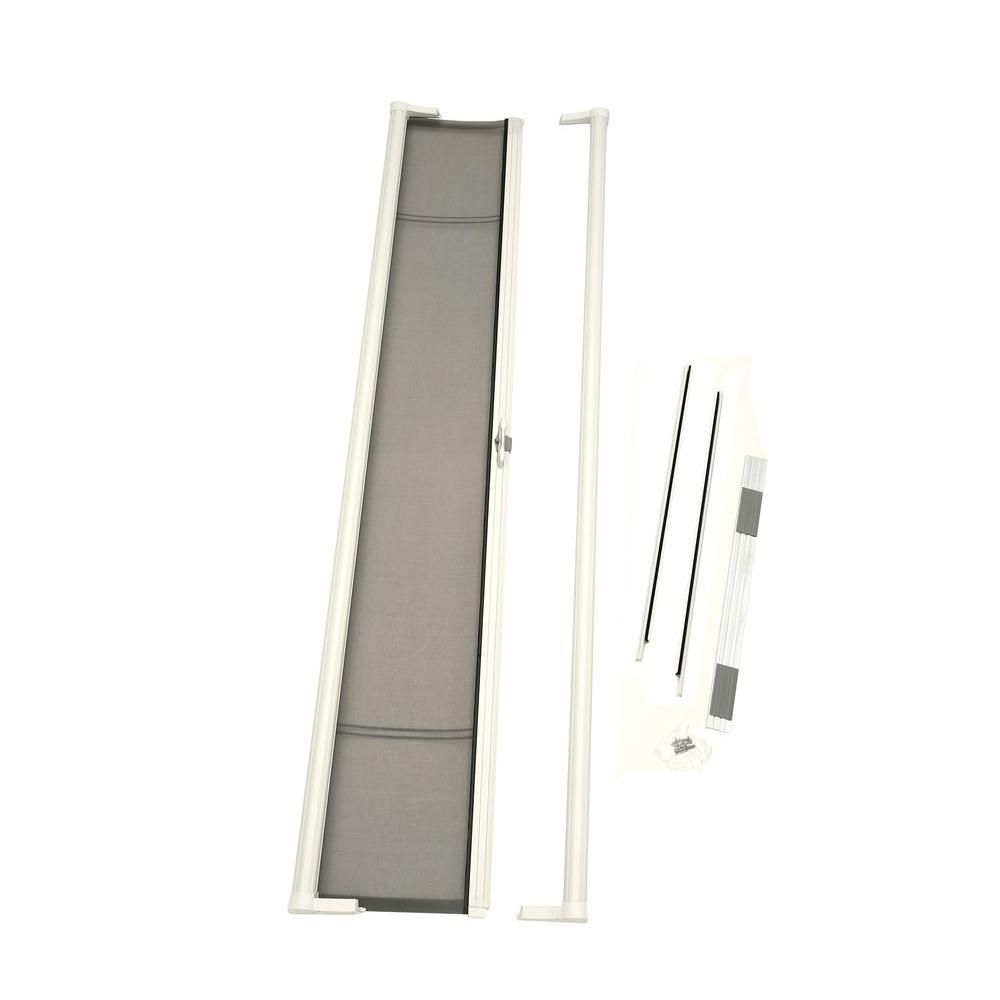 Larson 36 In X 78 In Brisa White Short Height Retractable Screen Door 77010361 The Home Depot In 2020 Retractable Screen Retractable Screen Door Screen Door