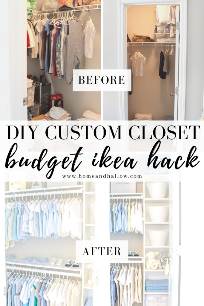 Easy Diy Custom Closet Budget Ikea Hack In 2020 With Images