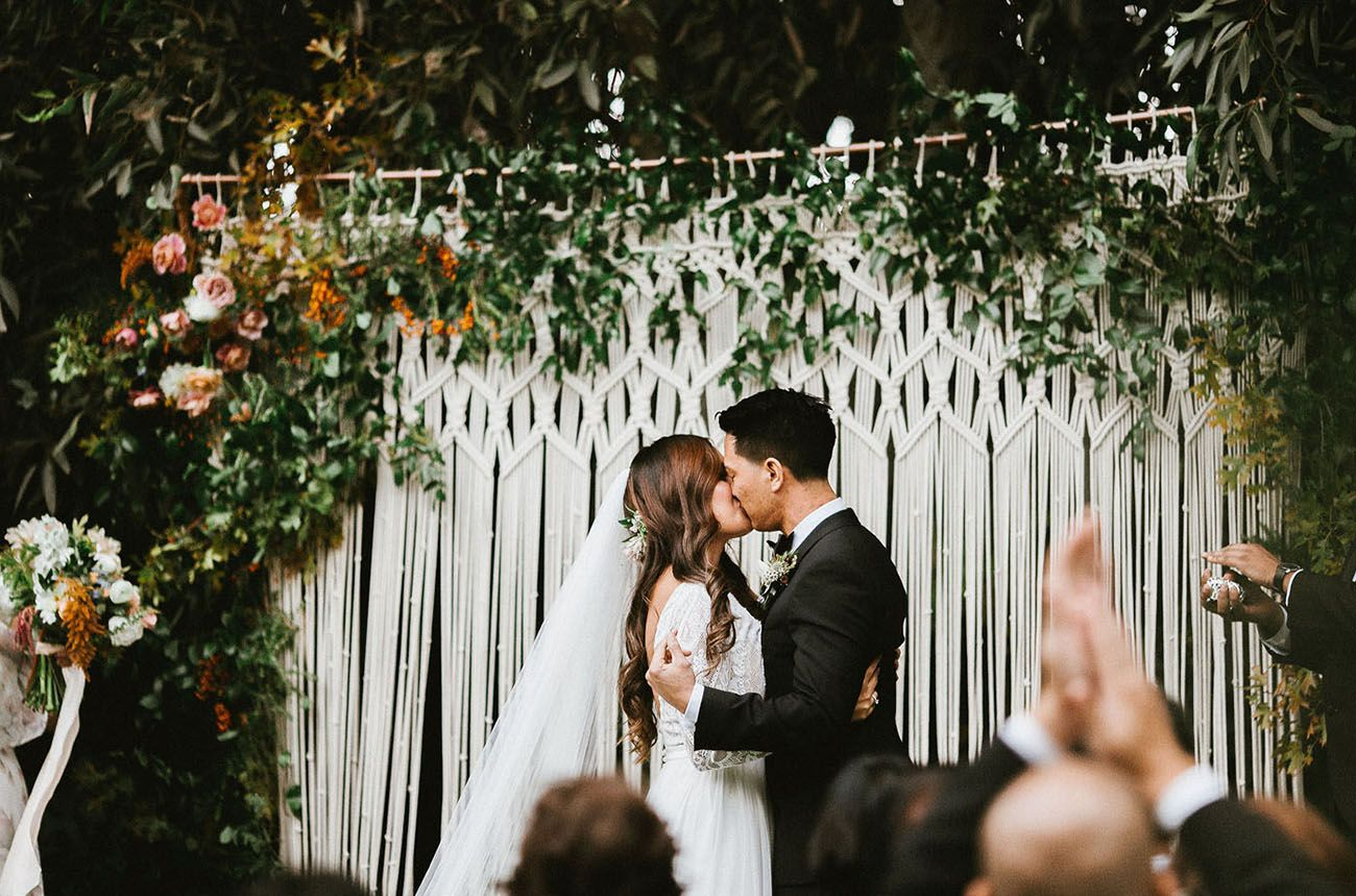 Romantic Bohemian Black Tie Secret Garden Wedding San Diego