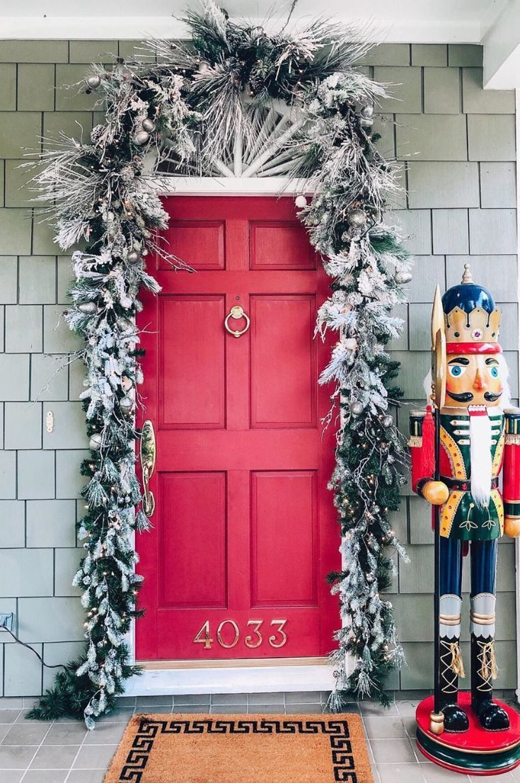 35+ Free Christmas Door Decoration To Make Your Home The Jolliest On The Block New 2020 - Page 22 of 35 #christmasdoordecorationsforwork christmas door; christmas door hangers; christmas door decor; christmas door decorations for work; christmas door wreaths; #christmasdoordecorationsforwork