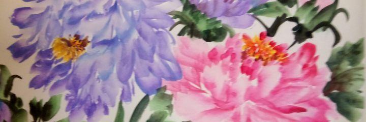 peony09262019-7 - sundongling watercolor  flower